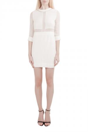 IRO White Silk Crepe Panelled Tina Mini Dress S - used