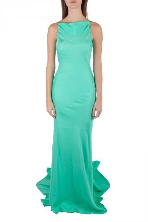 Gareth Pugh Aqua Green Silk Sleeveless Column Gown S used