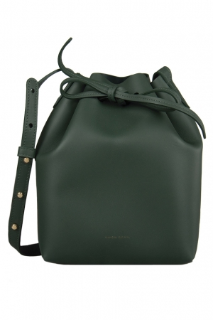 Mansur Gavriel Green Leather Bucket Bag