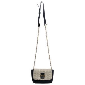 See by Chloe Navy/Cream Laser Cut Leather Crossbody Bag - used