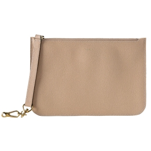Valextra Nude Leather Pouch