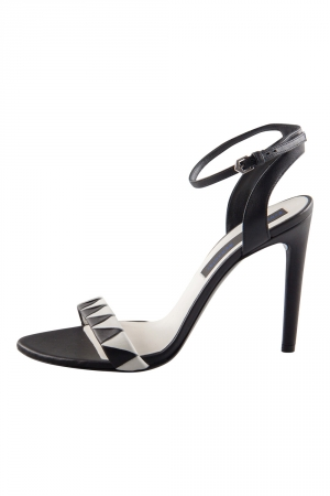 Proenza Schouler Monochrome Leather Ankle Strap Sandals Size 37