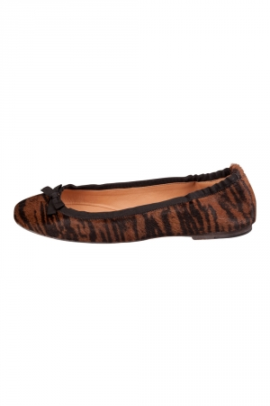 Isabel Marant Tow Tone Calf Hair Leather Bow Ballet Flats Size 40 -