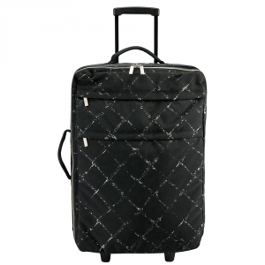Chanel Black Nylon Old Travel Line Rolling Suitcase