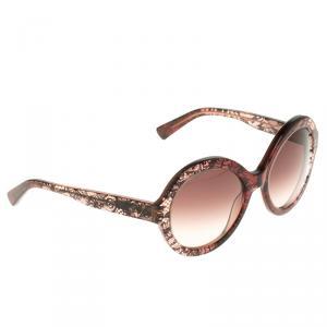 Valentino Brown V668S Round Sunglasses