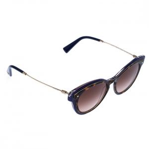 Valentino Brown/Blue Tortoise Gradient VA 4017 Cat Eye Sunglasses
