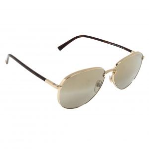 Valentino Brown/Gold Gradient VA2021 Aviator Sunglasses