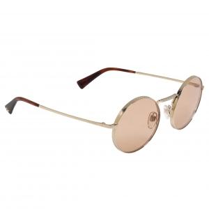 Valentino Brown/Gold VA2024 Round Sunglasses