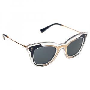 Valentino Blue/Transparent VA4030 Cat Eye Sunglasses