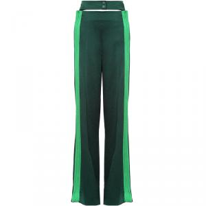 Valentino Jungle/Peppermint Satin Hammered Trousers M
