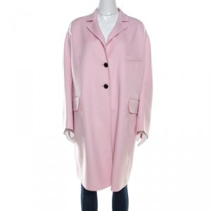Valentino Comfit Wool and Cashmere Single Breasted Coat S