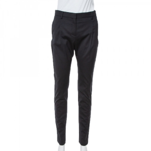 Valentino Black Wool Tailored Pants S