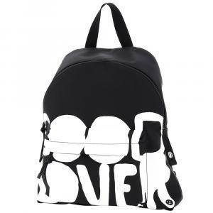 Valentino Garavani Black Nylon Lovers Language Backpack Bag