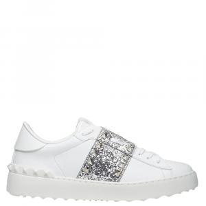 حذاء رياضي فالنتينو غارافاني غليتر أبيض روكستد أنتايتلد مقاس 37.5