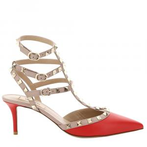 حذاء فالنتينو 65 فتحة كعب روكستد أحمر مقاس EU 39