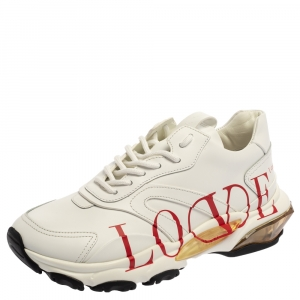 Valentino White Leather Love Logo Sneakers Size 38