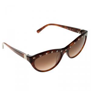 Valentino Havana V614S Studded Cat Eye Sunglasses