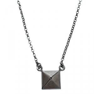 Valentino Black Tone Rockstud Pendant Necklace