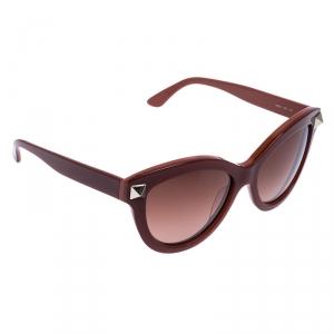 Valentino Burgundy/Brown Gradient V695S Rockstud Cat Eye Sunglasses