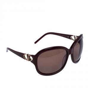 Valentino Burgundy/Brown 5782/S Oversized Sunglasses