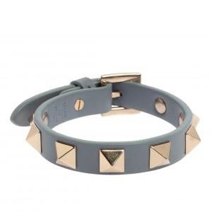 Valentino Light Blue Leather Rockstud Bracelet