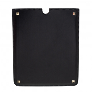Valentino Black Leather Rockstud iPad Case