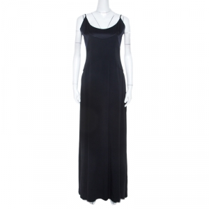 Valentino Boutique Bicolor Silk Pleated Chiffon Inlay Sleeveless Evening Gown M used