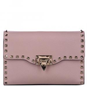 Valentino Pink Leather Rockstud Bag