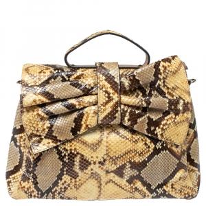Valentino Multicolor Python Aphrodite Top Handle Bag