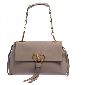 Valentino Old Rose Leather V-Ring Shoulder Bag
