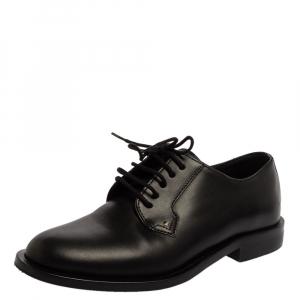Valentino Black Leather Lace Oxfords Size 36