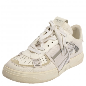 Valentino White Leather VLTN Low Top Sneakers Size 38