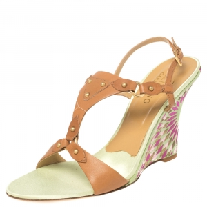 Valentino Brown Leather Strappy Sandals Size 40 - used