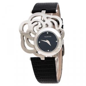 Valentino Black Stainless Steel Rosier Baselworld V55 Women's Wristwatch 40 mm