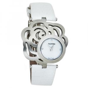 """ساعة يد نسائية فالنتينو """"روسير باسيلورلد ڨي55"""" ستانلس ستيل بيضاء 40 مم"""