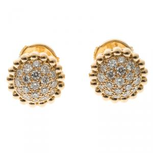 Van Cleef & Arpels Perlee Diamants Diamond 18k Rose Gold Earstuds