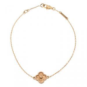 Van Cleef & Arpels Sweet Alhambra 18k Rose Gold Bracelet 18cm