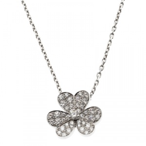 Van Cleef & Arpels Frivole Diamond White Pendant Necklace