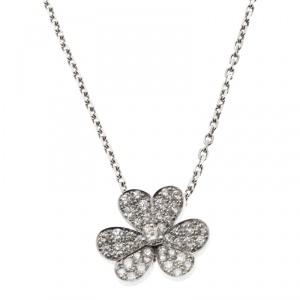 Van Cleef & Arpels Frivole Diamond White Pendant Necklace