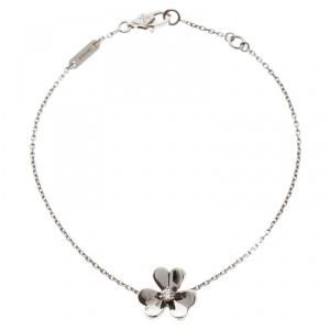 Van Cleef & Arpels Frivole Diamond 18k White Gold Bracelet
