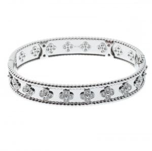 Van Cleef & Arpels Perlée Clover Diamond & 18k White Gold Bracelet M