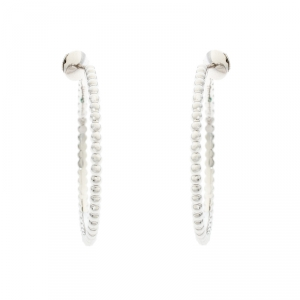 Van Cleef & Arpels Perlee Pearls 18K White Gold Hoop Earrings