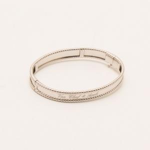 Van Cleef & Arpels 18KT White Gold Perlée Signature Bracelet