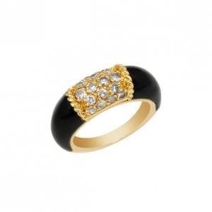 Van Cleef & Arpels 0.54 CTW Diamond 18K Gold Ring Size 48