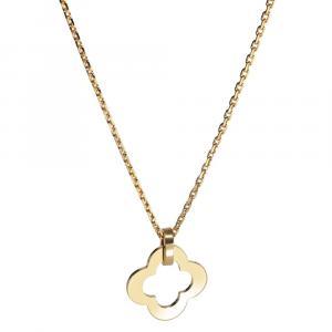 Van Cleef & Arpels Byzantine 8K Yellow Gold Alhambra Pendant Necklace