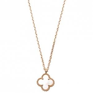 Van Cleef & Arpels Sweet Alhambra Mother of Pearl Pendant Necklace