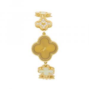 Van Cleef & Arpels Sweet Alhambra Yellow Gold MOP Diamond Watch