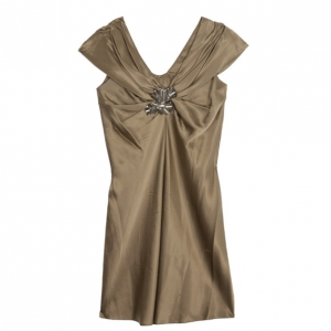 Vera Wang Satin Bustier Dress M