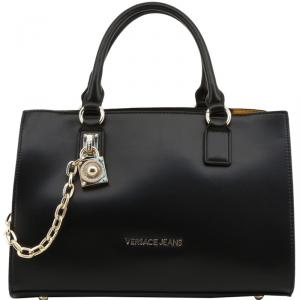 Versace Jeans Black Faux Leather Tote