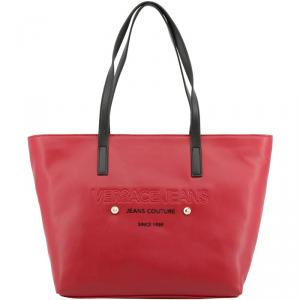Versace Jeans Two Tone Leather Shopper Tote